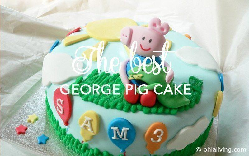 Probably the best George Pig cake ever!