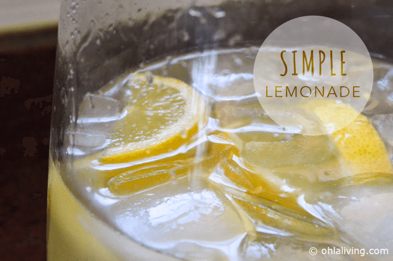 RECIPE: Really Simple Lemonade