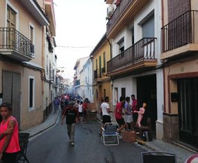 Paella in the streets
