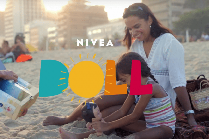 Nivea dolls: Learning the importance of sunscreen through play!