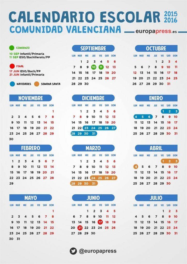 Valencia School Calendar