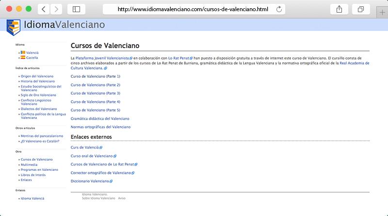 Idioma Valenciano