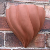 Terracotta Swirl Wallpot