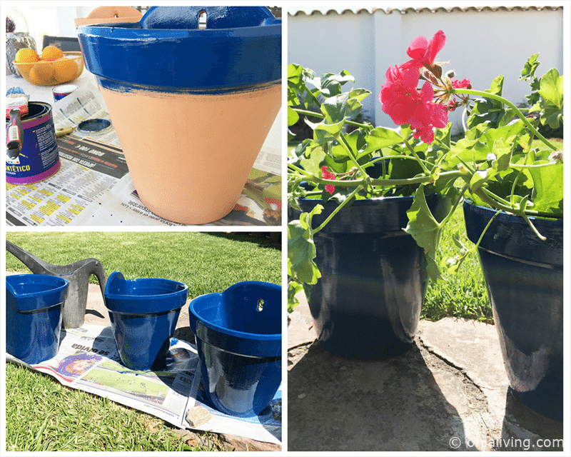 DIY Andalusian Hanging Wall Pots