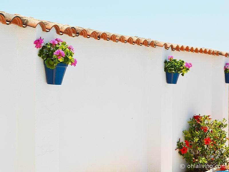 DIY Andalusian Wall Planters