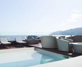 Aguas De Ibiza Rooftop Bar Pool View