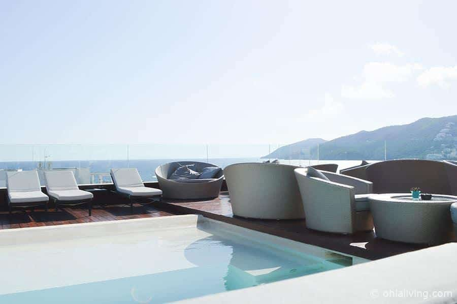 Aguas De Ibiza Rooftop Bar Pool View