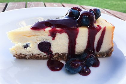 Blueberry Cheesecake With Summer Fruit Coulis