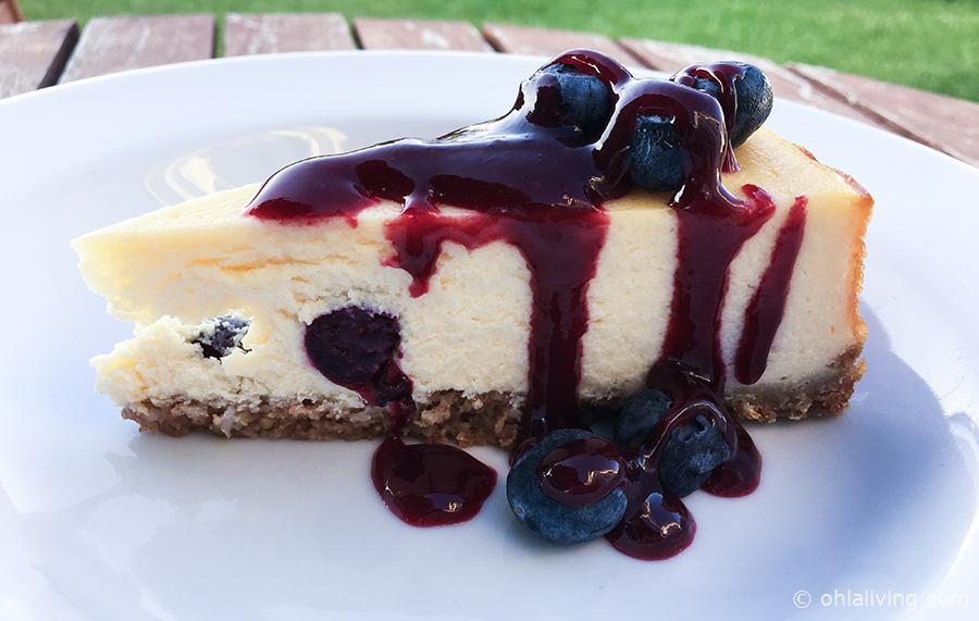 New York Blueberry Cheesecake With Summer Fruit Coulis