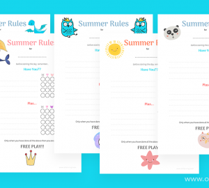 Printable Summer Holiday Tasks