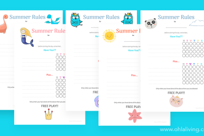 Download And Print: Summer Rules Checklist