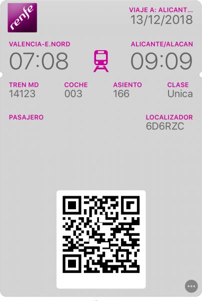 Renfe Ticket Valencia To Alicante