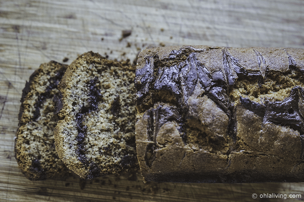 Banana & Nutella Bread Loaf