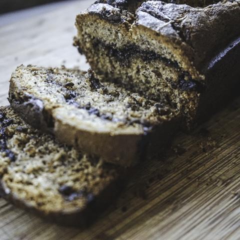 Banana & Nutella Bread Loaf