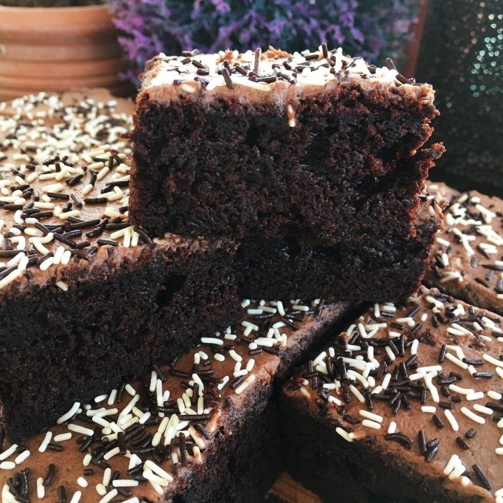 Chocolate Sprinkle Tray Bake
