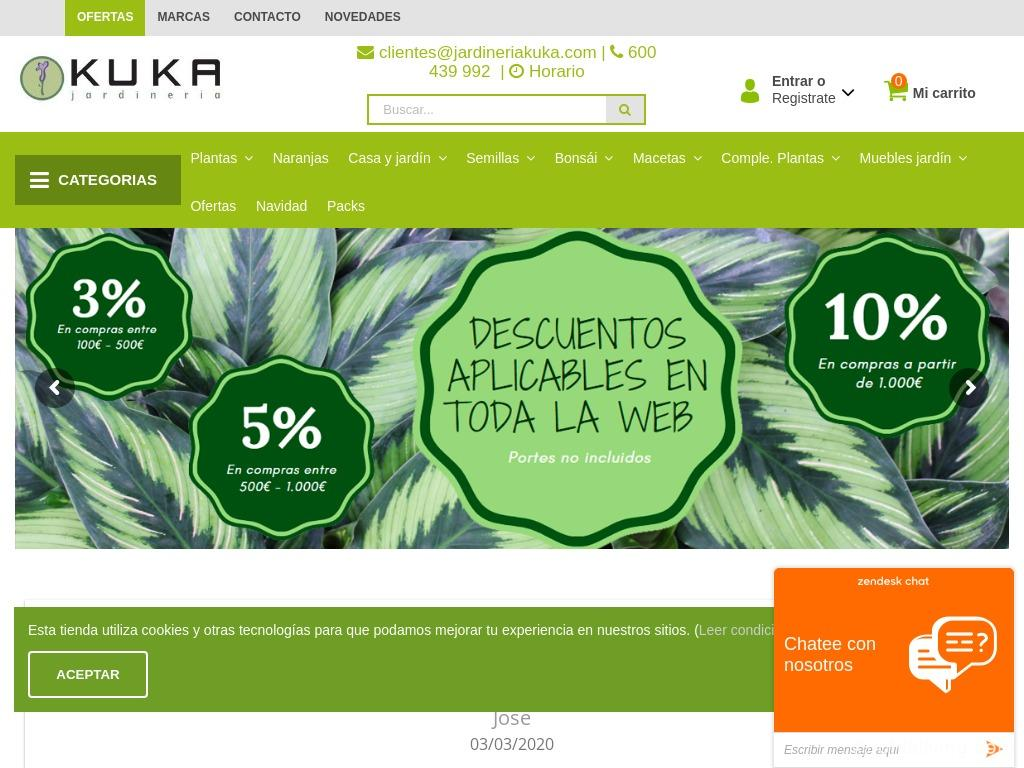 Jardineria Kuka Website