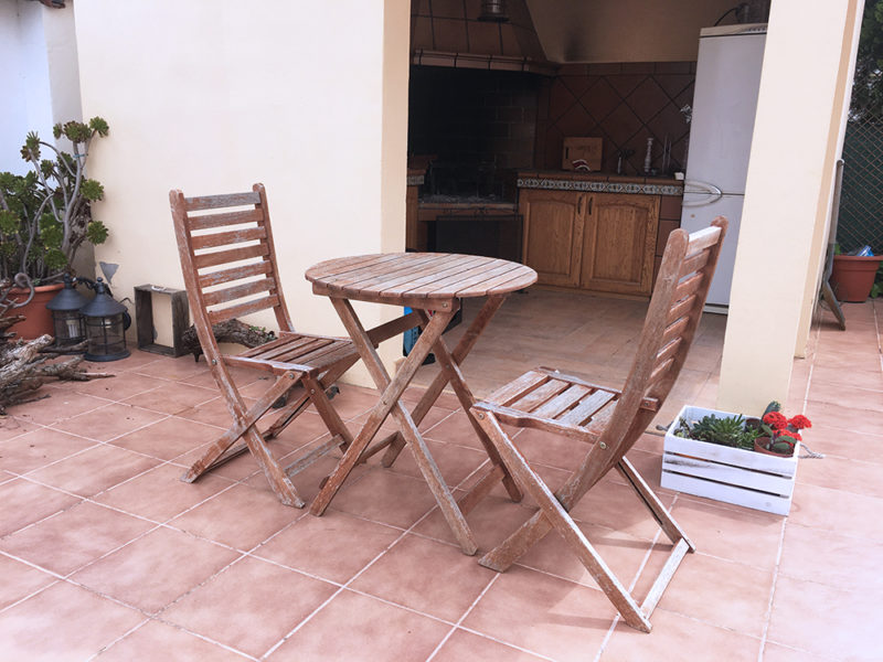 Frenchic Paint Upcycling A Wooden Bistro Set