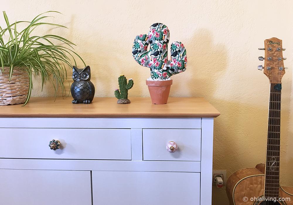 Fabric Cactus In A Terracotta Pot