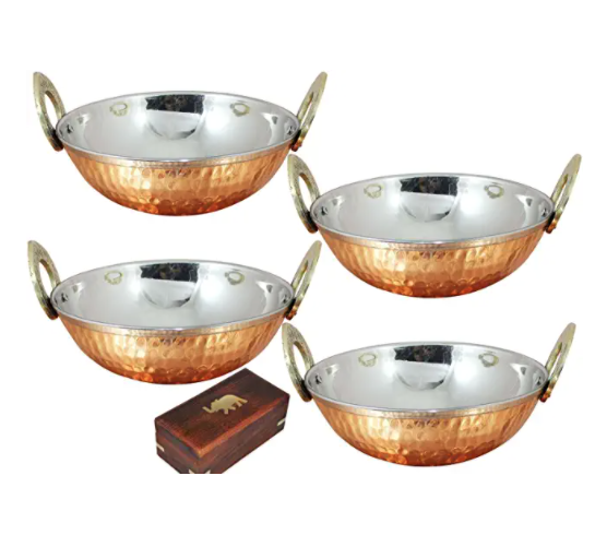 Karahi Copper Serving Bowl