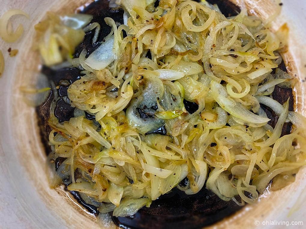 Caramelised onions for biryani sauce