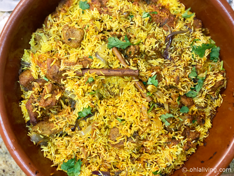 Perfect lamb biryani recipe
