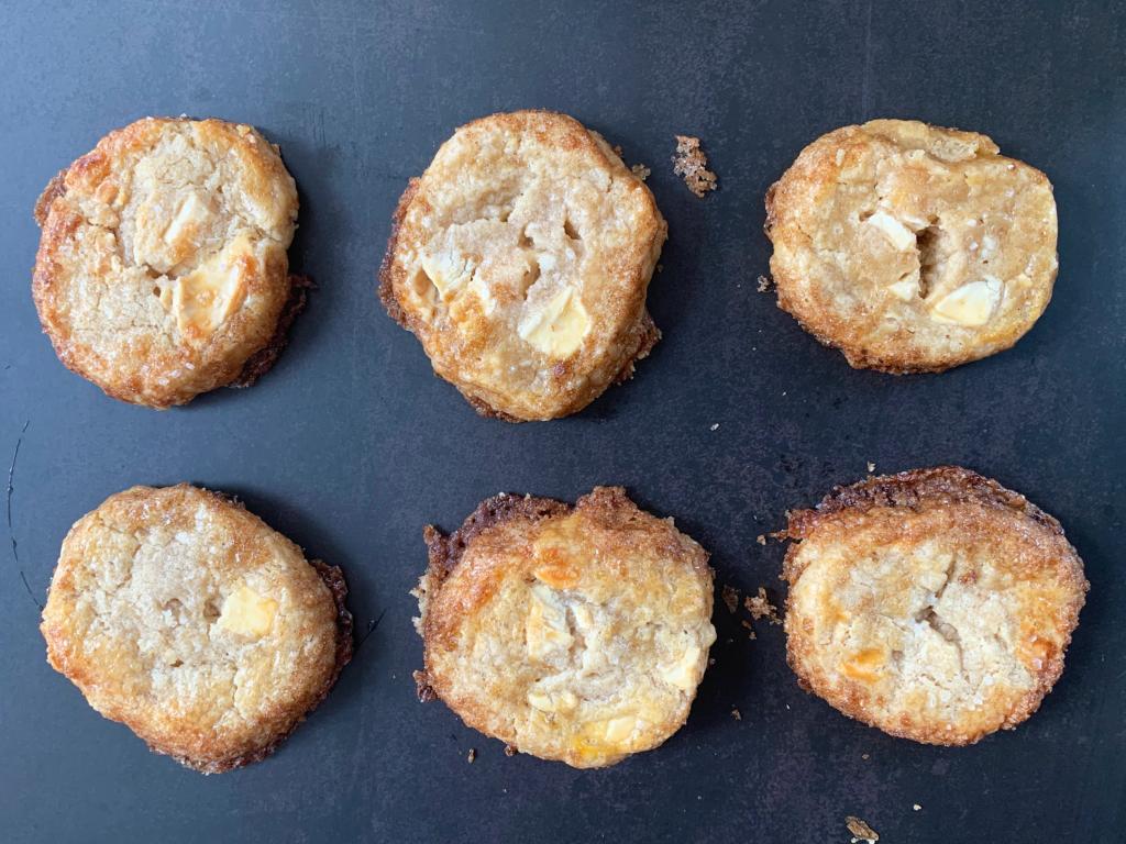 White Chocolate Shortbread Cookies